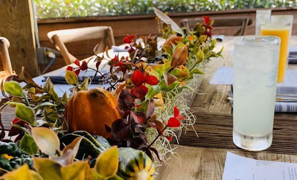 Thanksgiving table decorations at Rosy Tomorrows